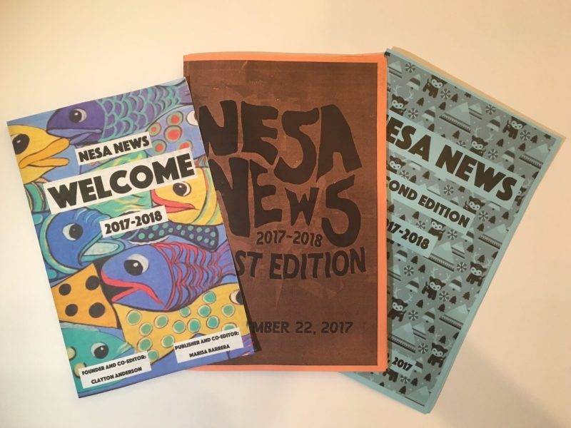 (From left) The Welcome Edition, First Edition, and Second Edition of NESA News.