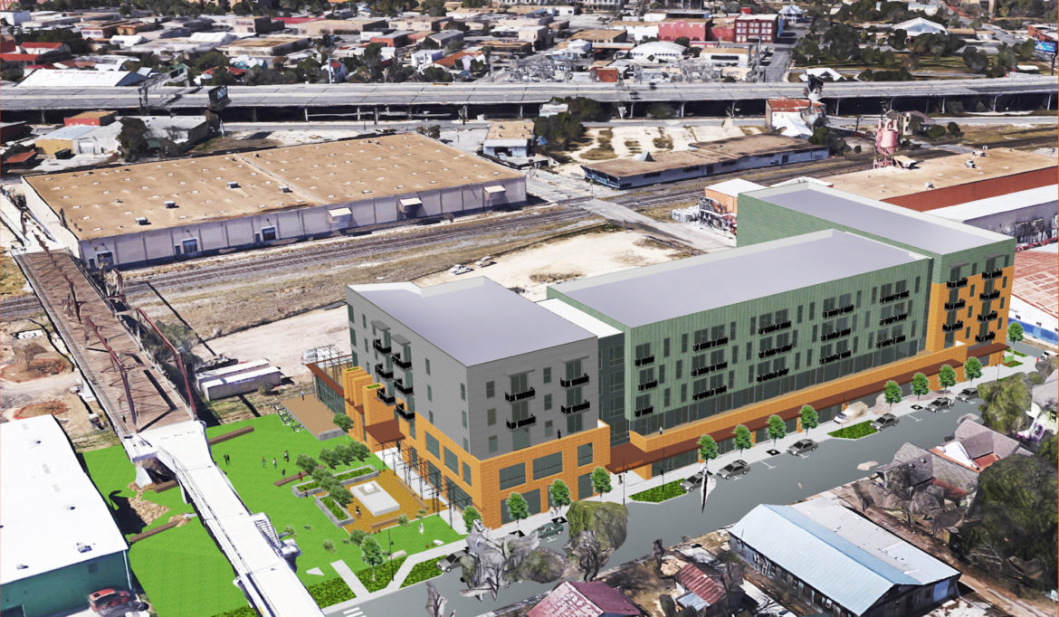 Developers presented this rendering to Eastside community members Monday night.