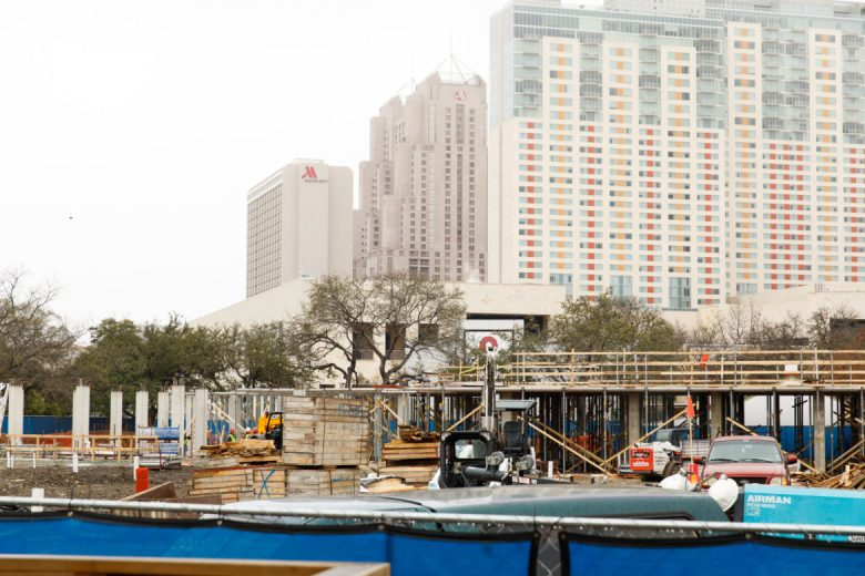 AREA Real Estate project at Hemisfair 'Acequia Lofts' under construction.