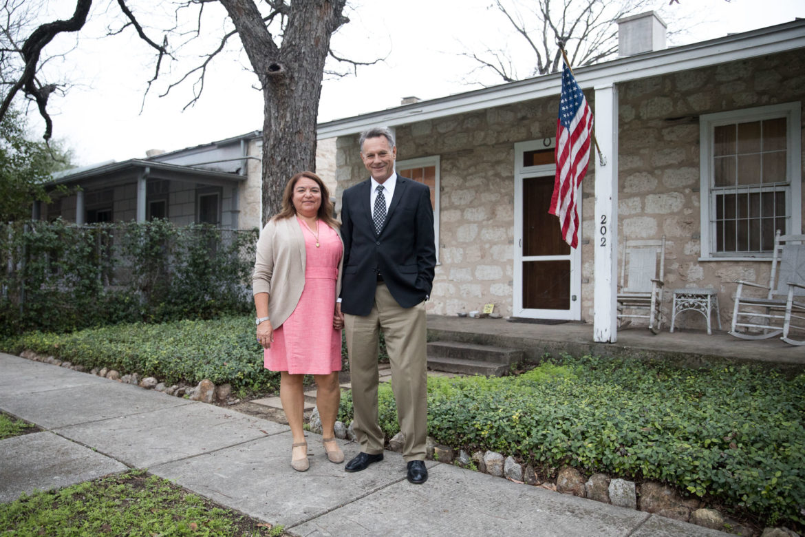 Michael Berrier and his wife Suzanne Martinez live within steps of the property in Lavaca.
