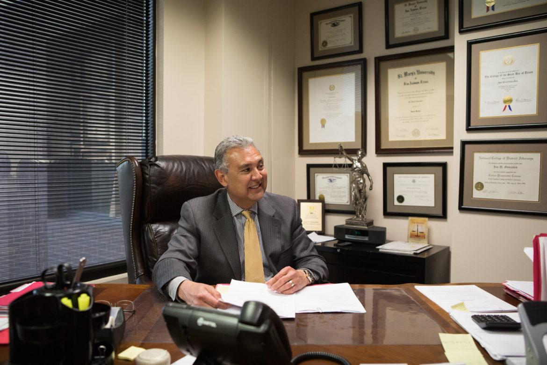 Joe Gonzales in his office