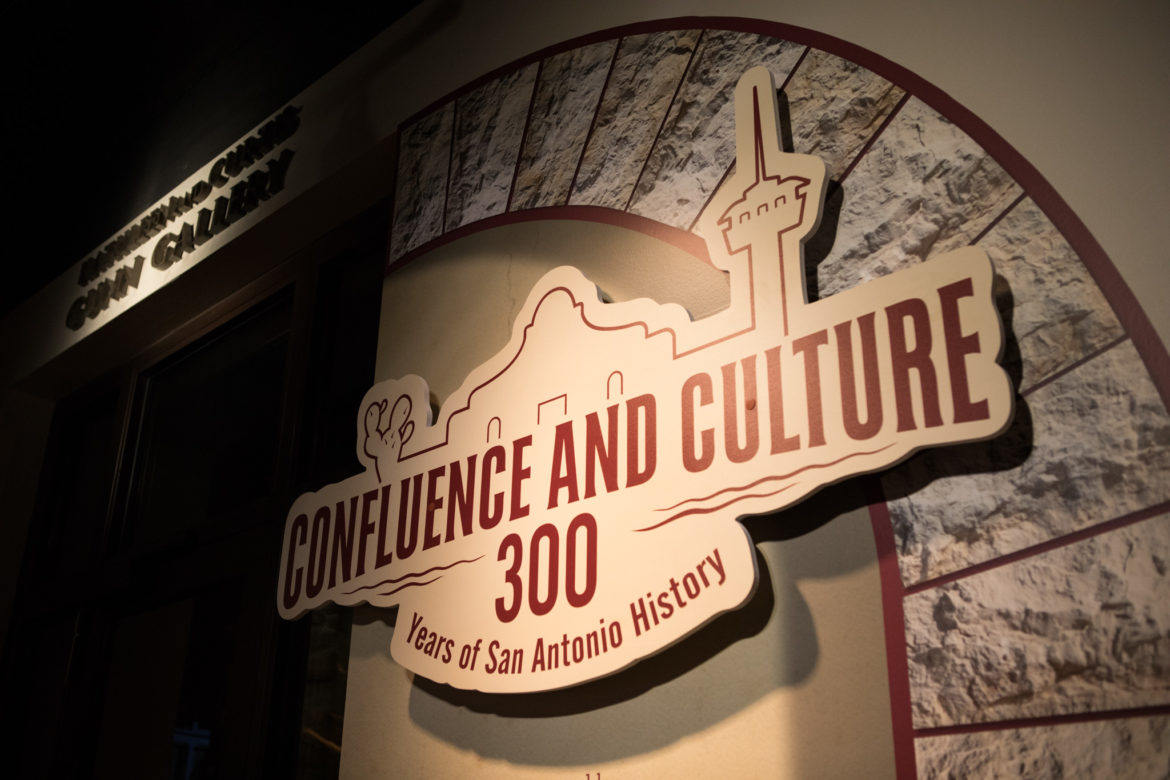 The entrance to the Confluence and Culture: 300 Years of San Antonio History exhibit at the Witte Museum.
