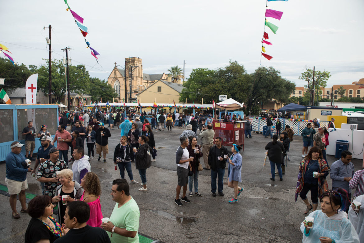 La Villita is less crowded in the early hours of NIOSA due to inclement weather.