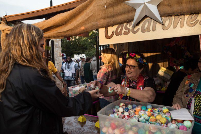 Irma Gonzalez sells cascarones to NIOSA-goers.