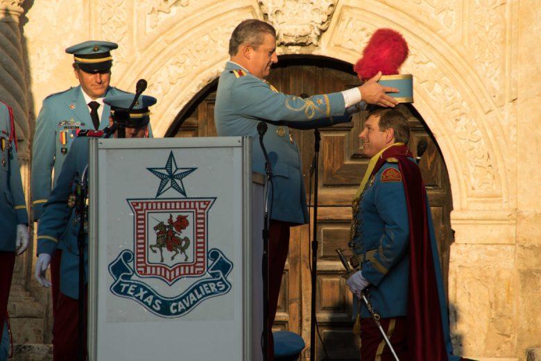 King Antonio XCV Michael A. Casillas crowns King Antonio XCVI Richard Sparr.