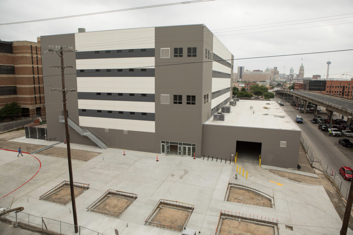 Bexar County's Justice Intake Center is under construction.