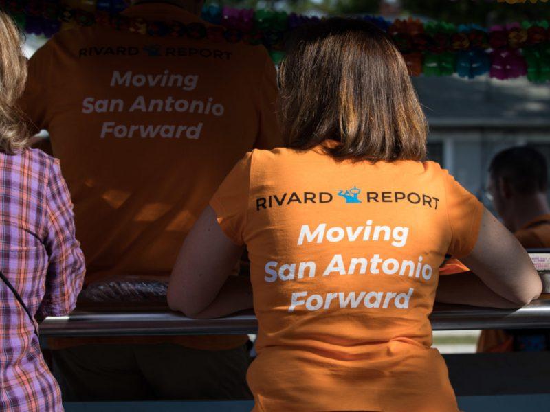 Wendy Lane Cook wears a Rivard Report shirt.