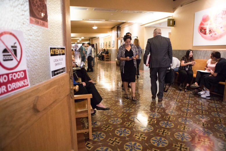The third floor hallway is where Children's Court takes place at Bexar County Courthouse.