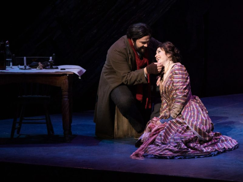 A scene from La Bohème during a dress rehearsal.