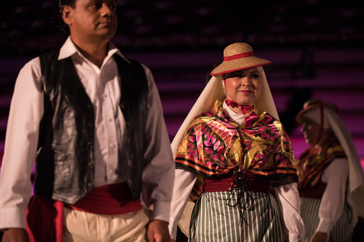 The Guadalupe Dance Company performs a Canary Island folk dance.