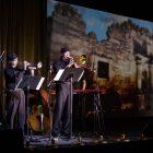 "Aaron Prado Ensemble performs an original work called ""Battle & Sacrifice at the Alamo."""