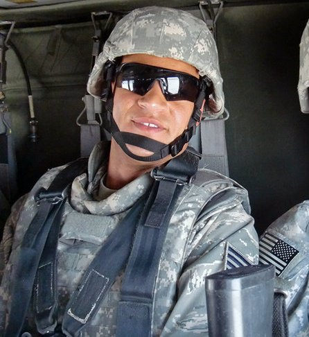 Brian Dillard during his tour in southern Iraq in 2010.