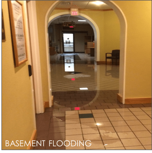 The basement of City Hall routinely floods.