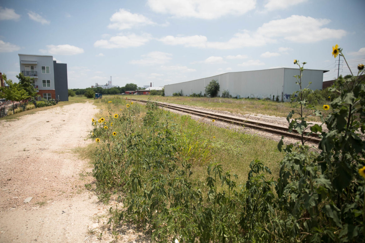 400 Probandt Street sits across the railroad tracks from the Big Tex apartments.