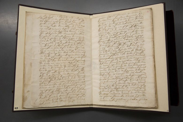 The original documents that founded the city of San Antonio are on loan from the University of Guadalajara in Mexico.