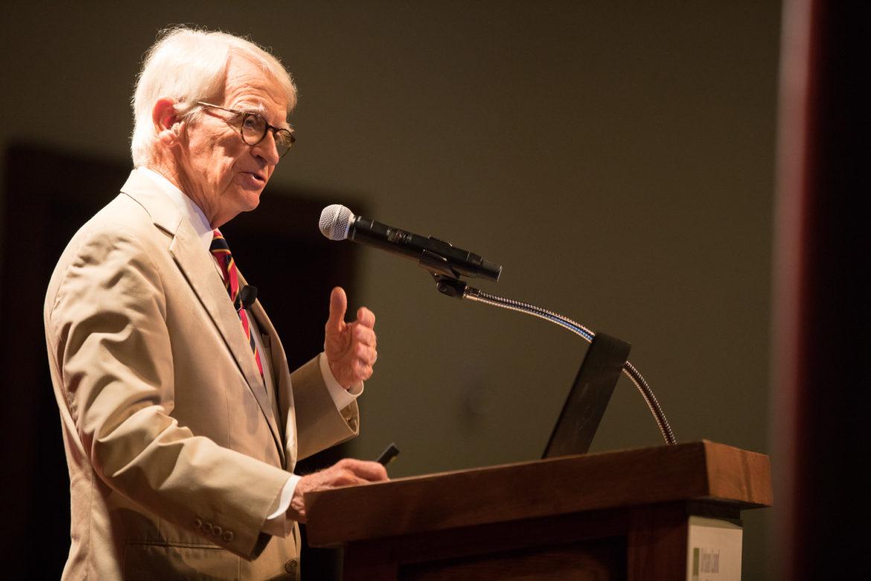 Former Mayor of Charleston, South Carolina, Joseph Riley presents to the ULI luncheon.