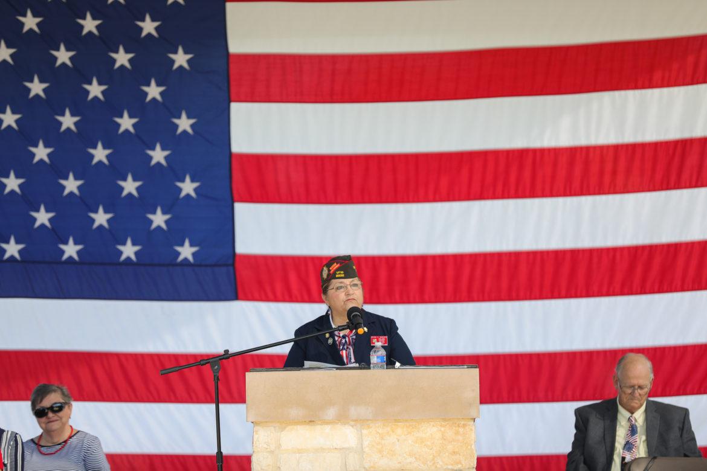 Guest speaker retired Colonel Sylvia Sanchez.