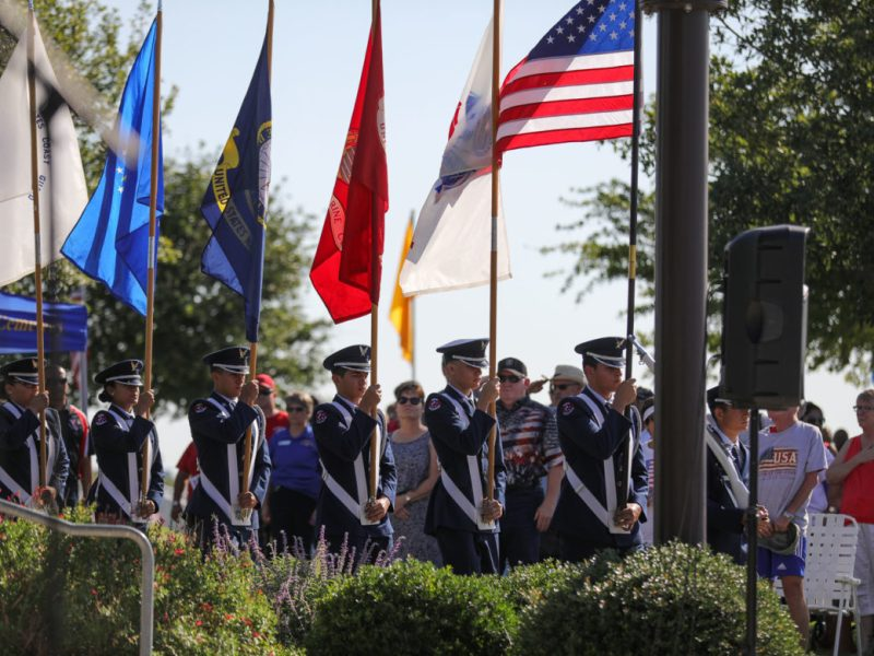 Southside High School AFJROTC presents the colors.