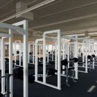 This rendering shows the weight room of Central Catholic High School's proposed Convocation Center.
