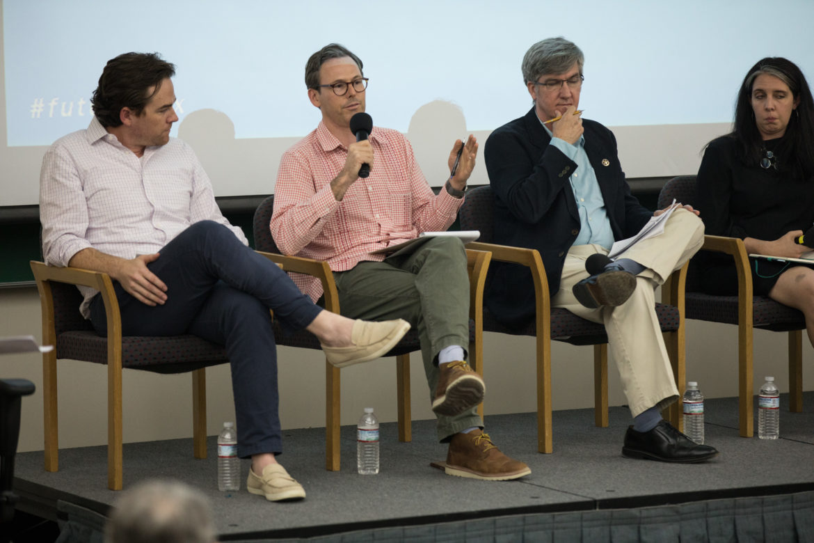 (From left) Panelists John Cooley, Peter French, David Bogle, and Anisa Schell.