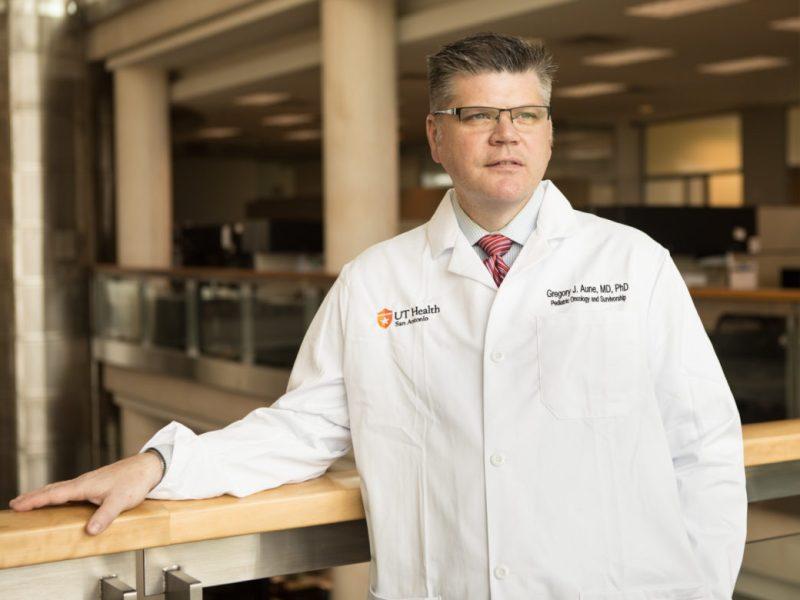 UT Health San Antonio Pediatric Oncologist Gregory Aune.