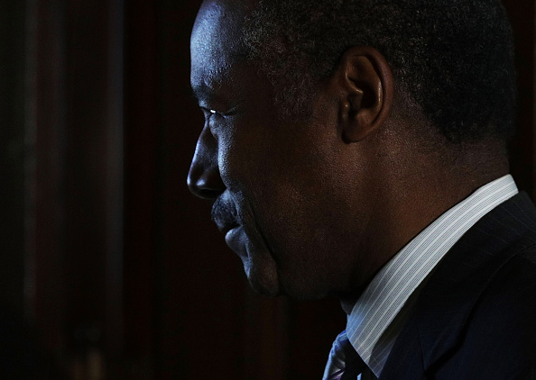 Ben Carson is seen after a meeting with Sen. Richard Shelby (R-AL), Chairman of Senate Banking, Housing and Urban Affairs Committee on December 7, 2016 on Capitol Hill in Washington, DC.