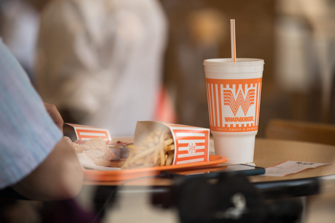 Whataburger is well known for it's styrofoam cups, the fast food chain can be found throughout Texas.