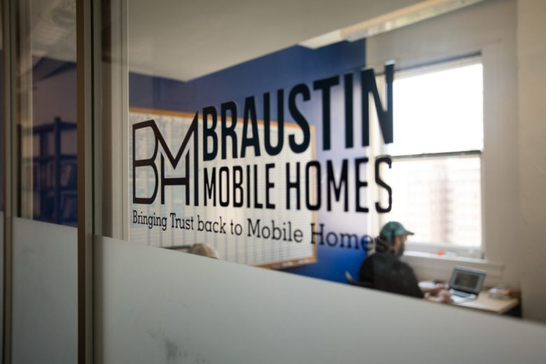 The Braustin Mobile Homes office is located in Geekdom.
