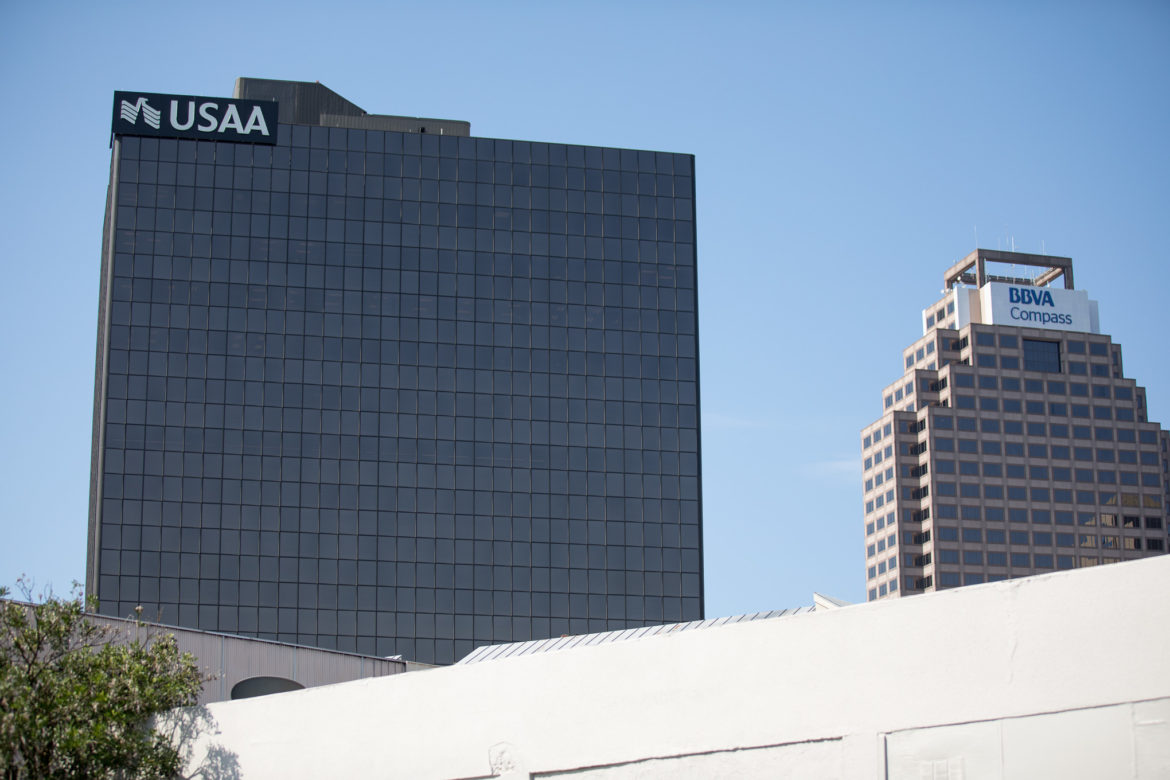 The USAA offices in downtown San Antonio.