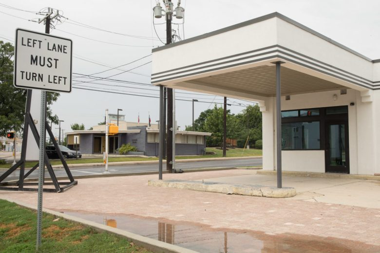 The historic gas station at Midtown Station.