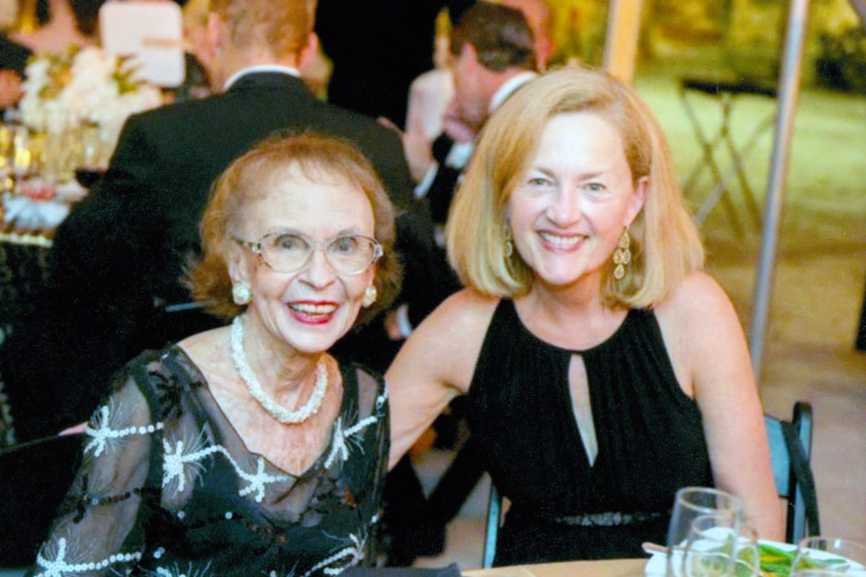 Edith McAllister with Southwest School of Art President Paula Owen.