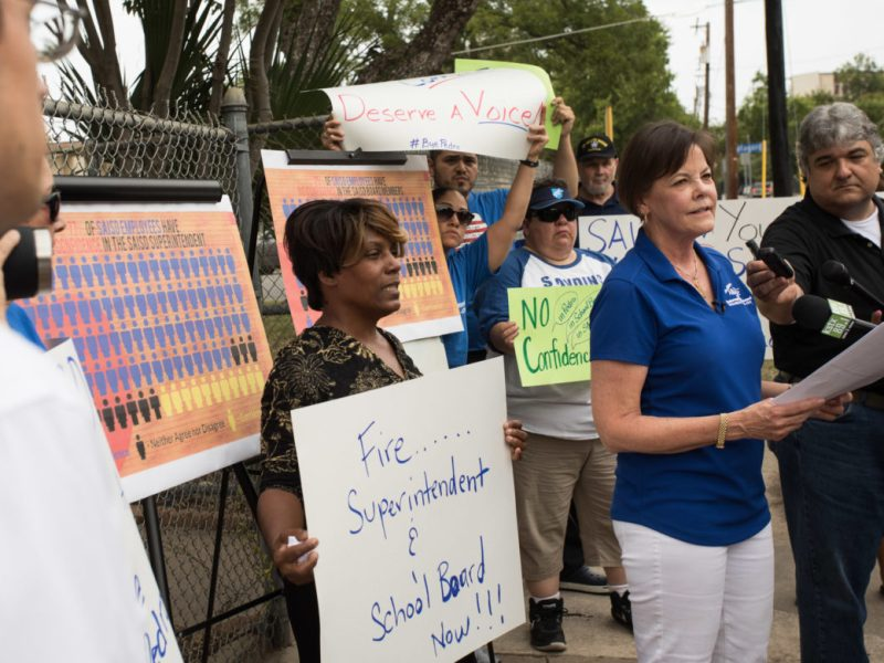 Shelley Potter, San Antonio Alliance president, explains her lack of confidence and trust in the decision makers of SAISD.