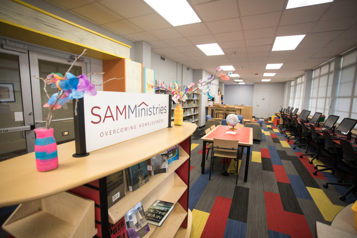 The library inside SAMMinistries.