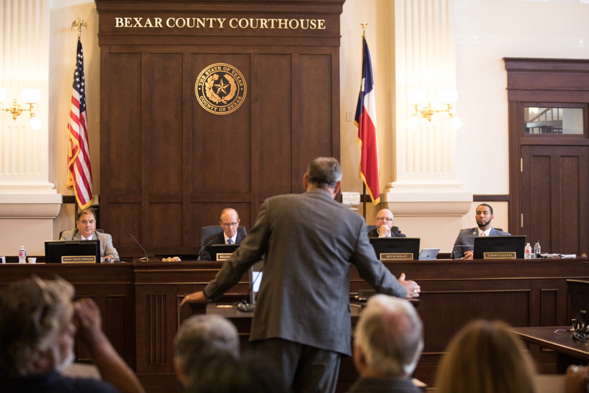 Medina County Judge Chris Schuchart asked Bexar County commissioners to join his county in protecting the Edwards Aquifer.