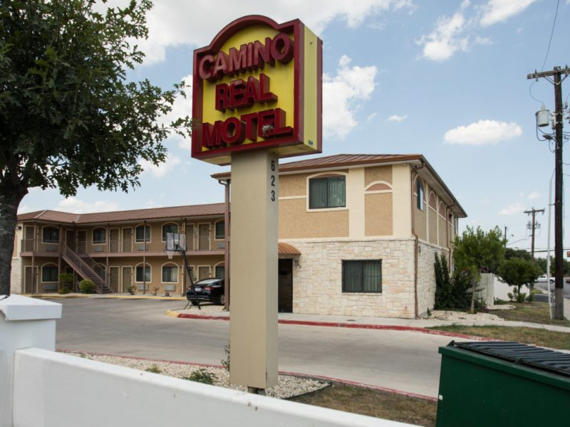 Camino Real Motel is located at 623 E. Bonner Ave., a block away from the San Antonio Missions National Historical Park.
