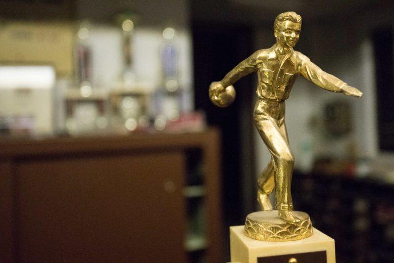 Vintage bowling trophy.