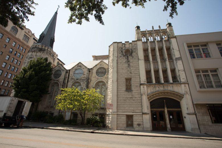 Travis Park United Methodist Church.