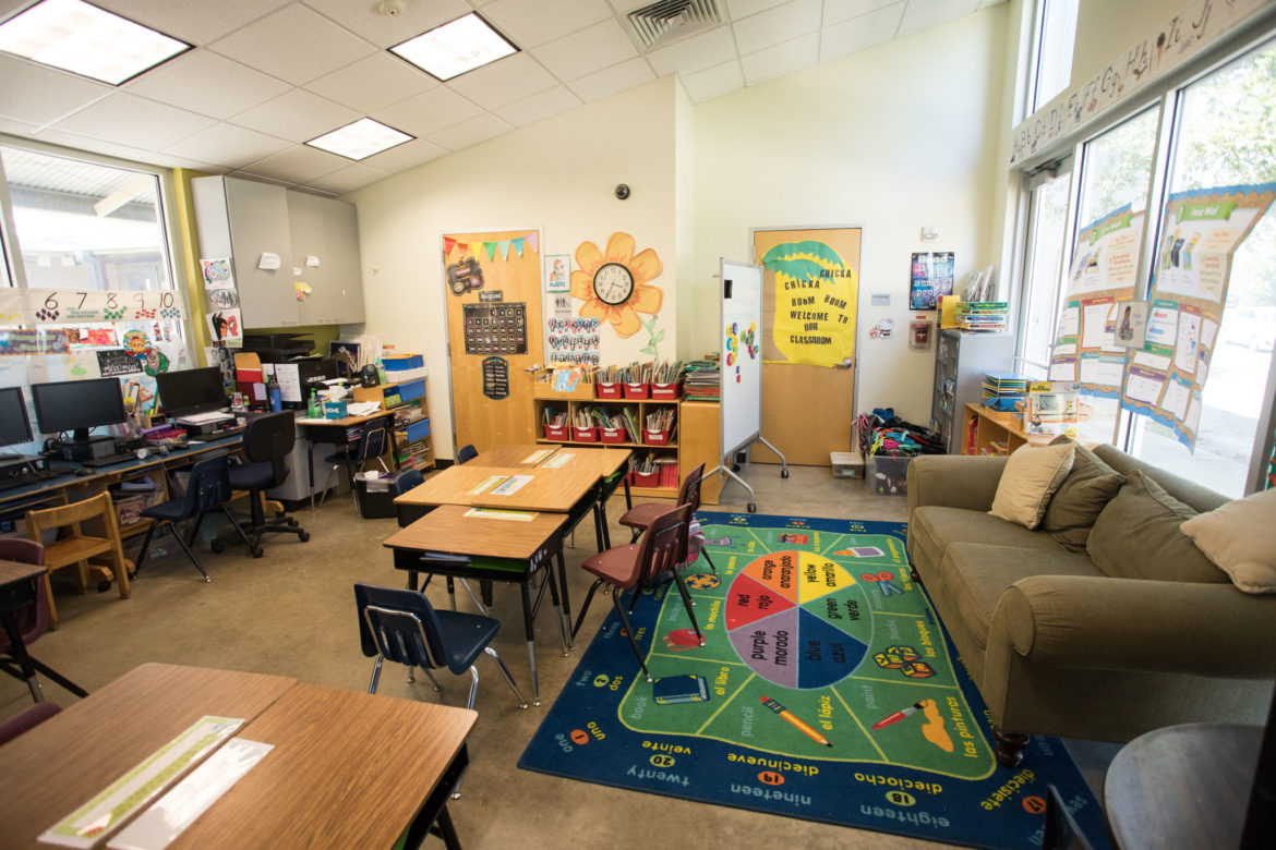 The Children's Shelter classroom is in the SAISD district.