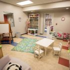 A play therapy room at the Children's Shelter.