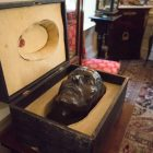 The death mask in the Napoleon Parlors.
