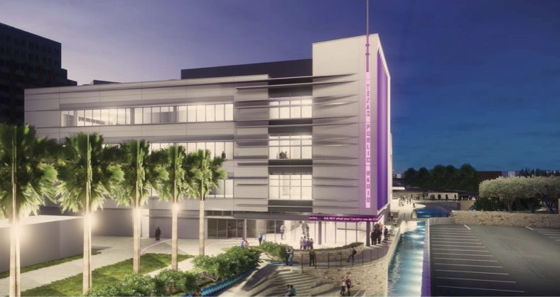This conceptual rendering shows the new TPR headquarters on San Pedro Creek.