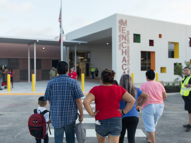 Menchaca Early Childhood Center on the first day of school.