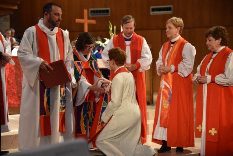 Susan Jennifer Briner (center) was elected first female bishop of Southwestern Texas.