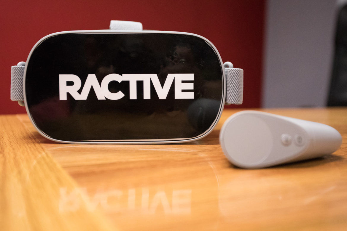 A Ractive VR headset and controller.