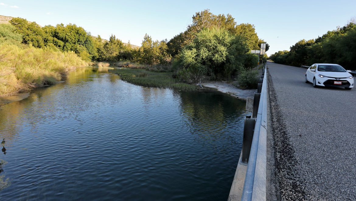 A view of the Devils River at Baker's Crossing in South Texas.