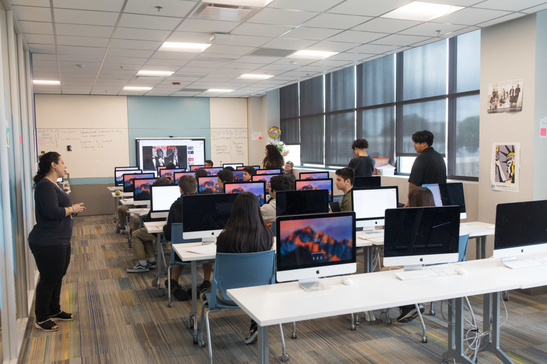Computer design class at CAST Tech.