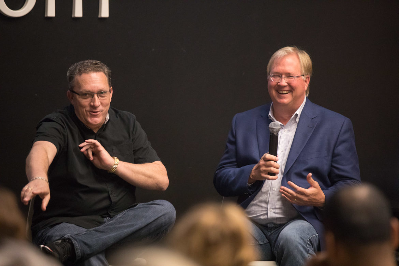 Geekdom Co-Founders Nick Longo (left) and Graham Weston.