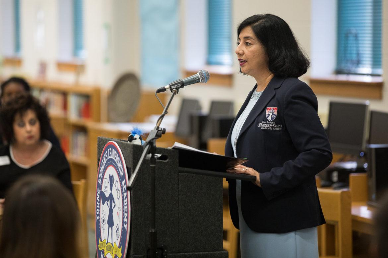 Young Women's Leadership Academy Principal Delia McLerran.