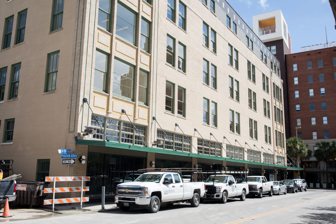 The Burns Building have requested a parklet to be installed in place of street parking outside the historic office building that is currently being renovated.