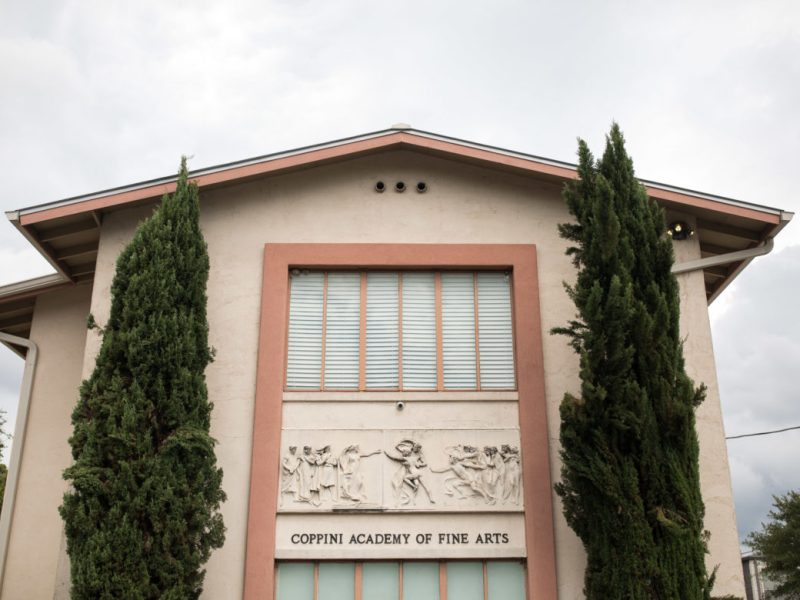 The Coppini Academy of Fine Arts was constructed in 1936 to house the commissioned project of the Alamo Cenotaph.
